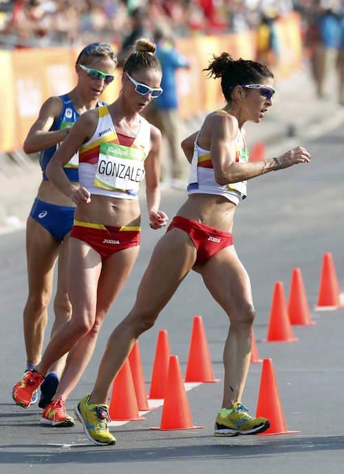 Beatriz Pascual en la carrera de los Juegos Olímpicos con nuestros suplementos deportivos