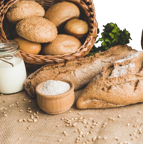hidratos carbono en forma de diferentes panes para reducir grasa