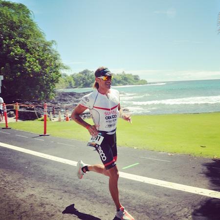 Joan Capdevila durante la carrera del IronMan de Hawaii