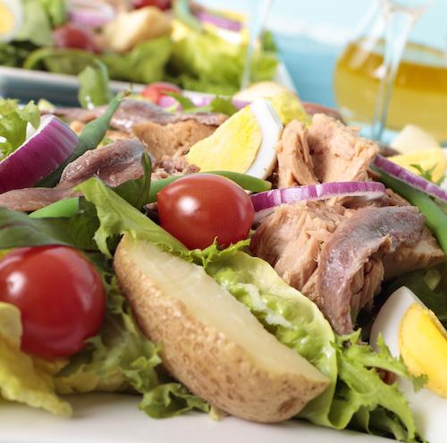 Plato equilibrado para reducir grasa