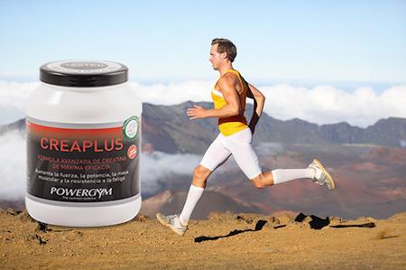 Runner con creatina para mejorar en endurance y su nutrición deportiva