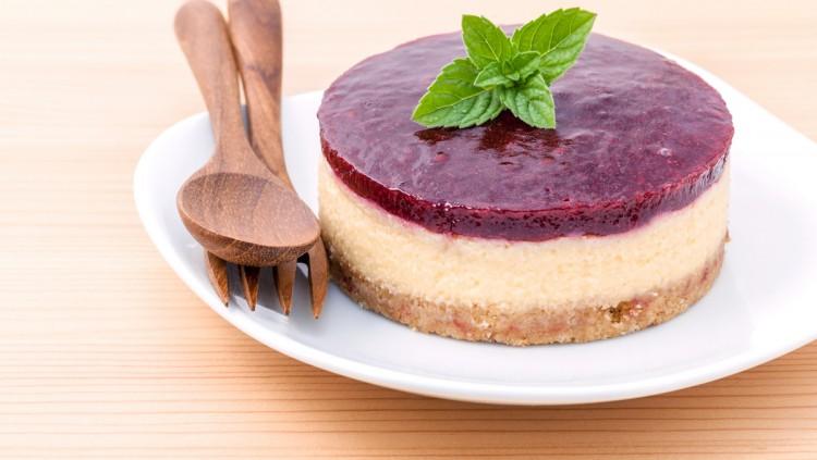 tarta de queso fitness con arándanos baja en grasas y azúcares