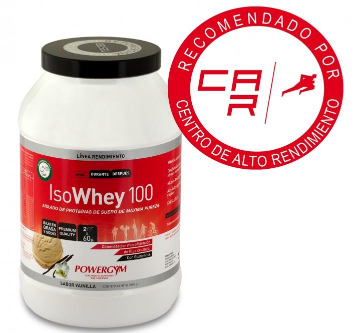 proteína isowhey 100 de vainilla para tu nutrición deportiva