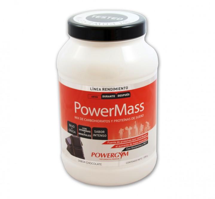 PowerMass fórmula exclusiva de carbohidratos y proteínas para ganar masa muscular y mejorar el rendimiento deportivo